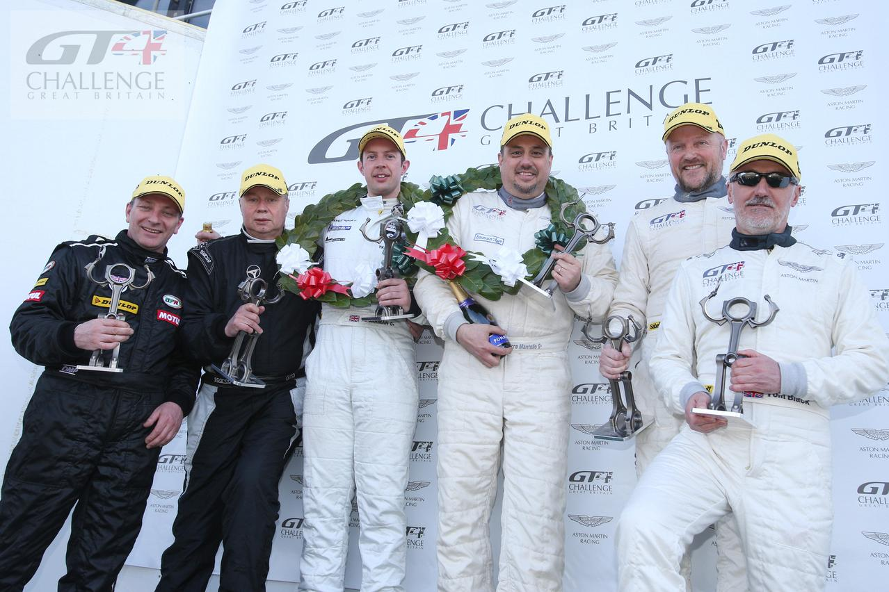 GT4 Challenge Podium of Great Britain