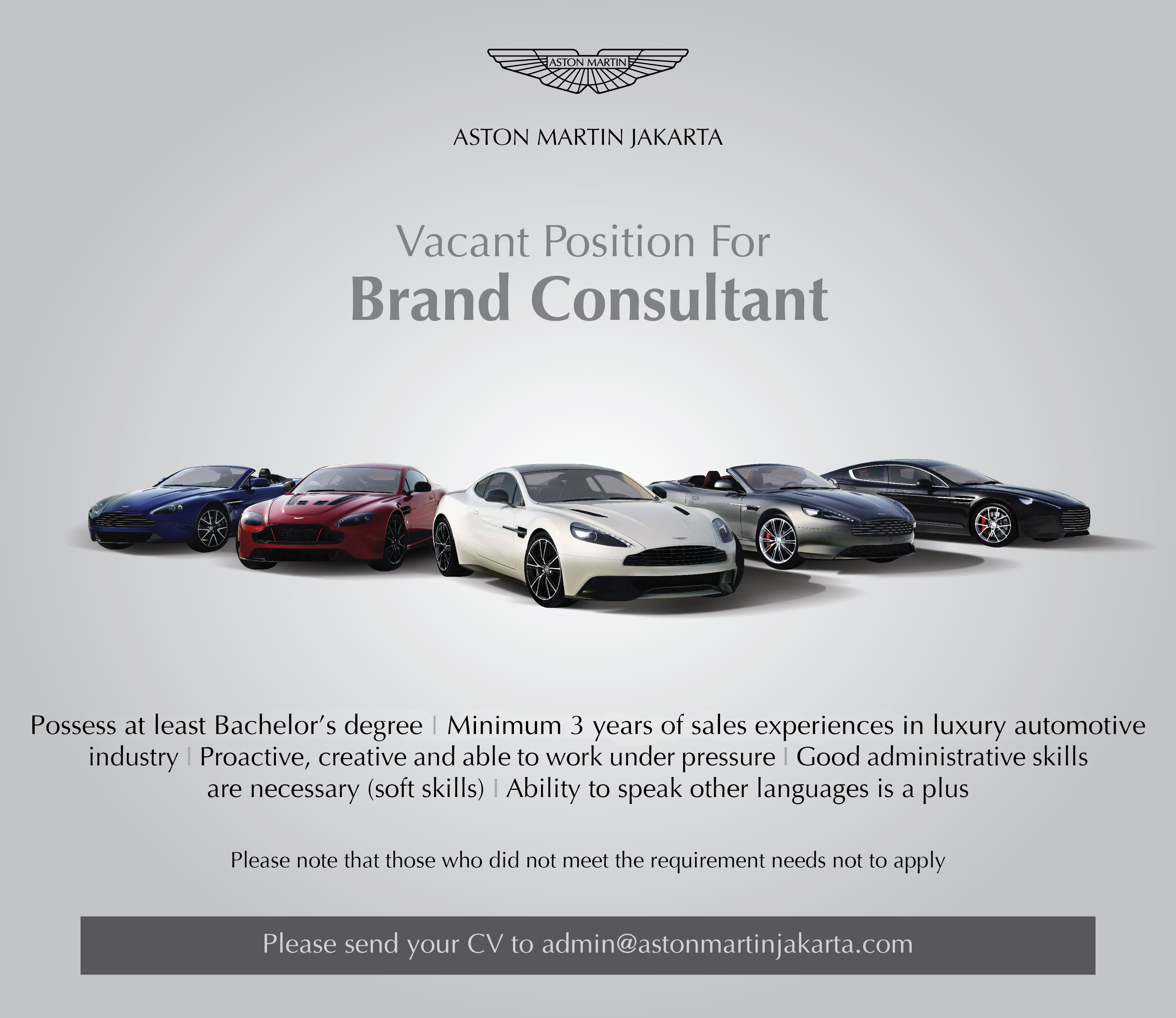 careers | aston martin jakarta - official aston martin dealer