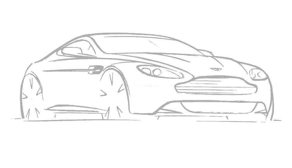 V8 Vantage Sketch