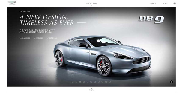 The Aston Martin Website