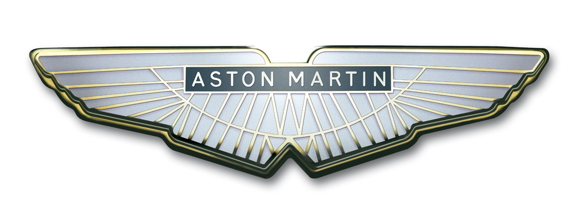 Aston Martin History Wings  Badge Evolution - Car sign with wings