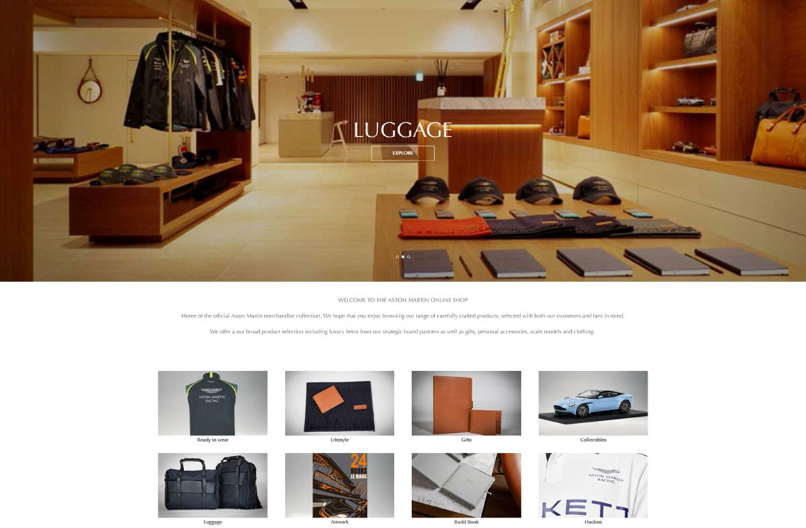 Aston Martin Online Store Opens For Business