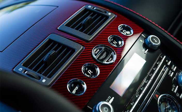 Red Carbon Fibre Interior